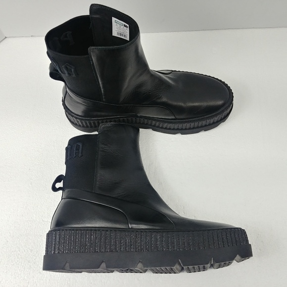 cheap for discount b4636 75776 Puma Fenty X Rihanna Leather Chelsea Creeper Boots